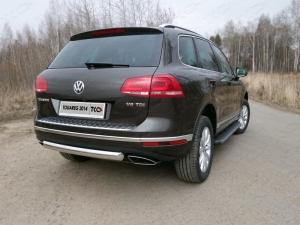Volkswagen Touareg 2014 Защита задняя (овальная) 75х42 мм